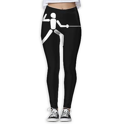 5aa2bf3aee4 Amazon.com : DDCYOGA Fencing Women's Tummy Control Yoga Pants ...