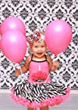 Lollipop Moon Lollipop Moon Pink Zebra Cupcake Tutu Dress