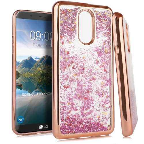 Amazon com: LG Stylo 4 Case, Glitter Sparkle Bling Floating