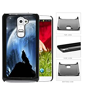 Wolf Howling On Hilltop With Full Moon Hard Plastic Snap On Cell Phone Case LG G2 by icecream design