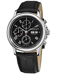 Stuhrling Prestige Men's 362.33151 Swiss-Made Accolade Chrono Automatic Black Watch