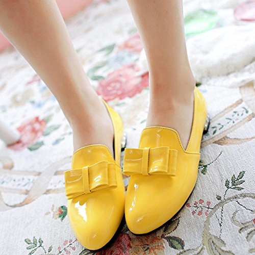 Slip Shoes Casual Flat Women On FizaiZifai Yellow Pumps q4Sf7ggw