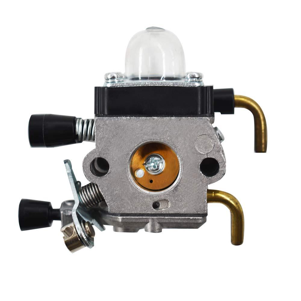 WFLNHB C1Q-S97A Carburetor for STIHL FS55 FS55R FS55RC KM55 HL45 KM55R FS38 w//Fuel Line Kit