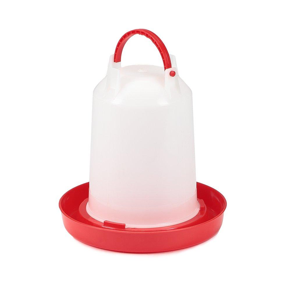 Melko® Poultry Drinking Trough Plastic 1.5 Litre chick Drinker Hühn Ertränke Bath Chickens Ducks Tränk Poultry