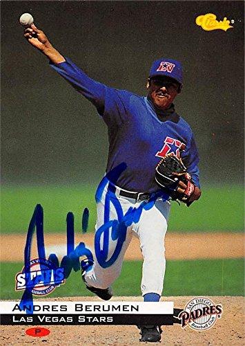 Andres Berumen Autographed Baseball Card Las Vegas Stars
