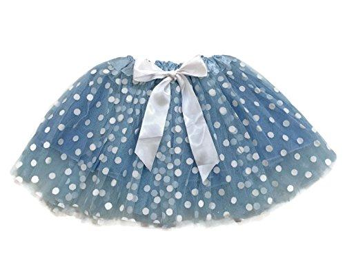 Company Costumes Dance (Rush Dance Ballerina Girls Dress-Up Princess Fairy Polka Dots & Ribbon Tutu (Kids (3-6 Years Old), Light Blue & White (Frozen)))