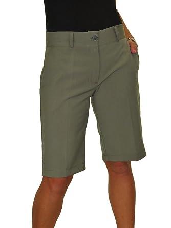 97f6f3dea4 ICE (1492) Ladies Smart Washable Day Evening Tailored Shorts  Amazon.co.uk   Clothing