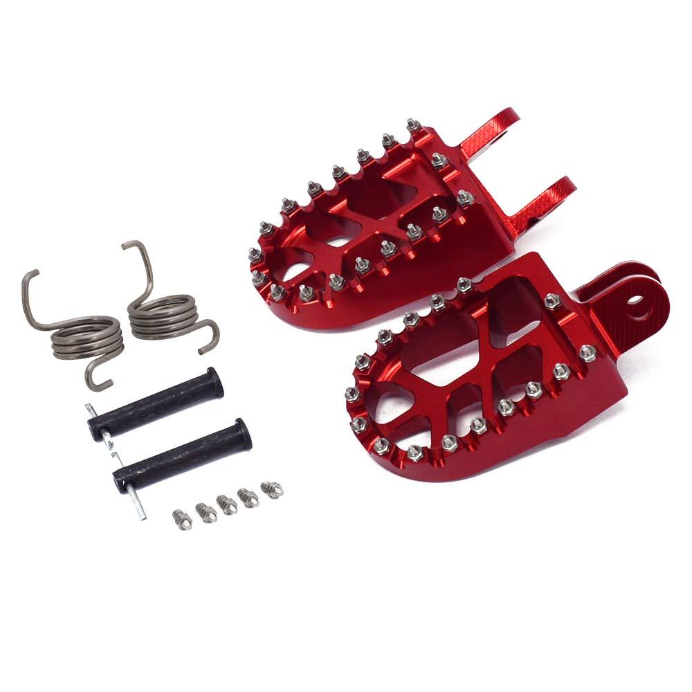 Foot Pegs Footpegs Footrest Pedals Billet MX Wide Aluminum Foot Rests For Honda CR80 XR250 XR650L XR400 96-05 XR350R 83-84 XR650R XR600R 89-00 XR650R 00-05 CRF1000L CRF1000L DTC 16-17 Black