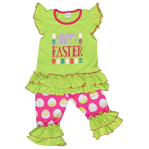 Unique Baby Girls Easter Egg Outfit (2T/XS, Green) (Show Girl Outfits)
