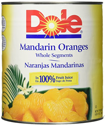 - DOLE Mandarin Oranges Whole Segments In Light Syrup 106 Oz Can