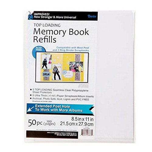 Darice Scrapbook Memory Album Page Protectors 8.5X11 50Pk (5 Pack) 121370 Bundle with 1 Artsiga Crafts Small Bag by Darice DIY Crafts Supplies (Image #2)
