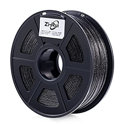 Zi-Rui Marble Color Shining Black 3D Printer 1.75mm PLA Filament,Dimensional Accuracy+/- 0.03 mm, 2.2LBS,Speckle Shining Black