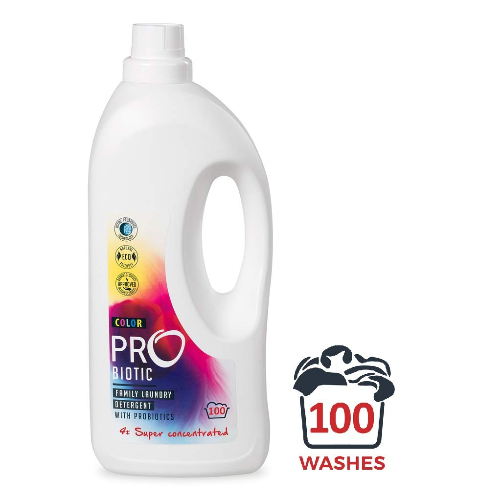 ProBiotic Liquid Laundry Detergent | Natural, Organic, and Super Concentrated for Economical and Ecological Laundry Washing | Effective Cleaning Power and User Friendly Package | 100 Washes, 1.5 L