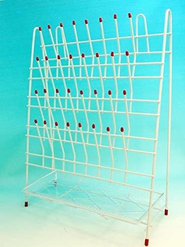 Beyondsupply-Laboratory Drying / Draining Rack 32Pegs With Drain Pan by beyondsupply
