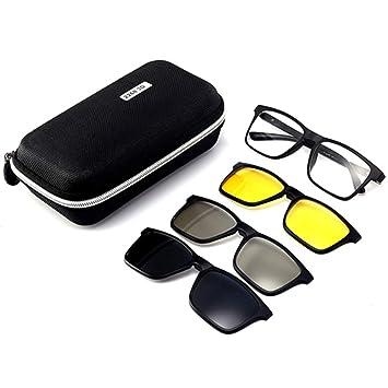 hlq Gafas de Sol Uv400 de los Hombres, Gafas de visión ...