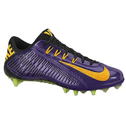 Design Nike Football Cleats - NIKE Vapor Carbon Elite TD Mens Football Cleats (13 D(M) US, Purple/Black/Yellow)