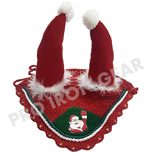 PRO IRON GEAR Santa Claus Horse Ear Bonnet/Net/Hat/Hood/Mask Fly Veil (COB)