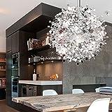 JIN Modern restaurant LED lamps/art restaurant stainless steel ball chandelier (85V-240V)