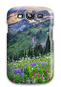 Galaxy S3 Case Cover - Slim Fit Tpu Protector Shock Absorbent Case (valley)