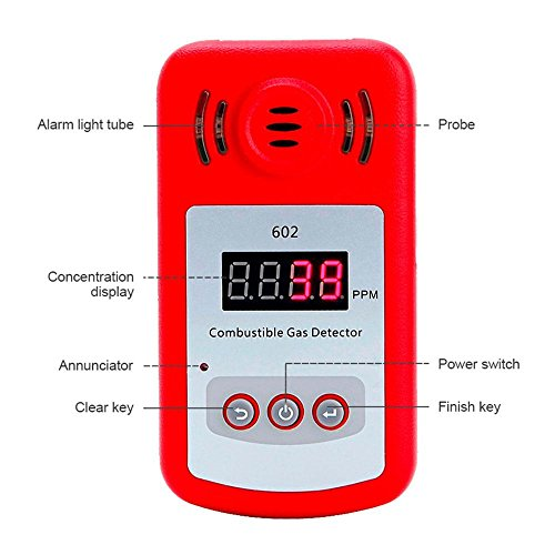 Aolvo Propane/Natural Gas Detector, Portable Handheld Combustion Gas Leak Detector Tester with Sound Alarm and Digital Display, Monitor Explosive Gas : Methane, Butane, LPG, LNG - Battery Powered by Aolvo (Image #1)