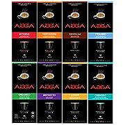 #LightningDeal Café Agga - Variety Pack - 80 Nespresso OriginalLine Compatible Capsules