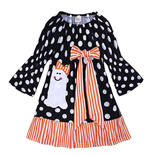 Kids Tales Baby Girls Long Sleeve Halloween Dresses Cotton D