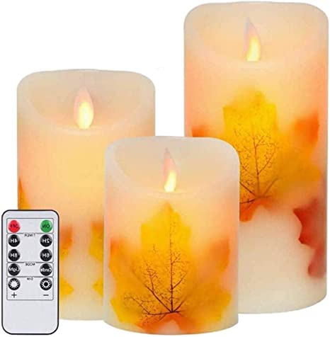 3Pcs Simulation LED Flameless Fake Candle Lights for Home Bedroom Decoration