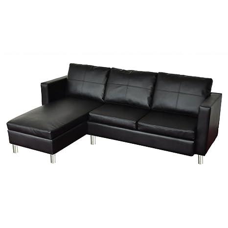 VidaXL Wohndesign Ecksofa Lounge KunstLedermix Relax Liege Wohnlandschaft  Schwarz 240294: Amazon.de: Küche U0026 Haushalt
