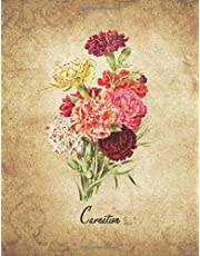 Carnation: Vintage Floral Notebook With College Ruled Lined Pages for Writing and Journaling