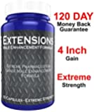 """Testosterone Boosting Male Penis Enlarger Thicker Longer Bigger 4"""" Inch Growth Enlargement Pills Increase Size, Stamina, and Energy"""