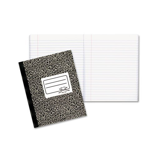 National Brand Products - National Brand - Composition Book, Wide/Margin Rule, 7-7/8 x 10, White, 80 Sheets/Pad - Sold As 1 Each - Permanently bound sheets. - 97 brightness Xtreme white paper. -