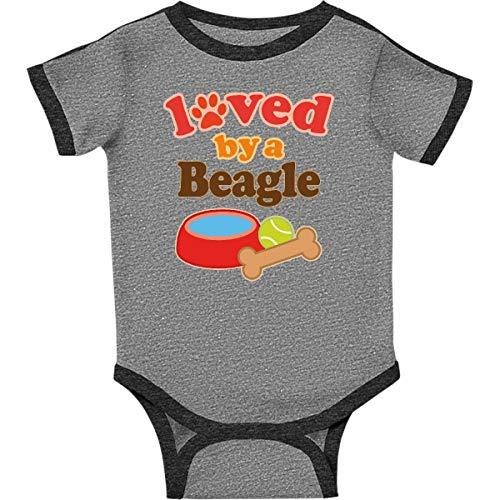 inktastic - Beagle Dog Infant Creeper 18 Months Ringer Heather and Smoke 10526