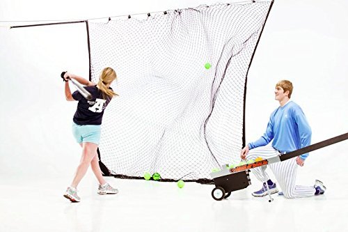The Zip Net * Extra Large Sports Backstop Net for Baseball, Soccer, Tennis, Football * for Hitting, Goals, Practice by Athlonic