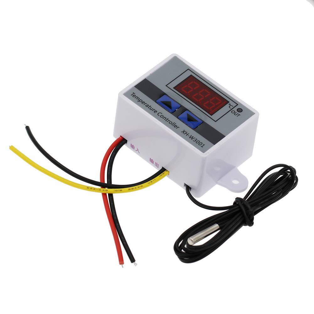 Korada Digital Thermostat, Xh-W3001Digital geführt Temperature Microcomputer Controller Thermostat Control Switch Probe (1, 12V / 120W)