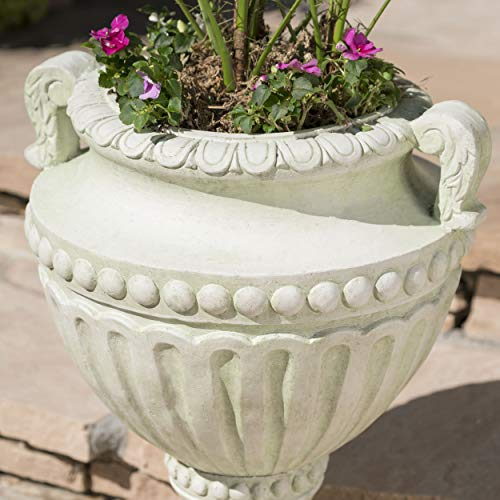 Great Deal Furniture Alice Outdoor White Moss Finish Light Weight Concrete Urn by Great Deal Furniture (Image #1)