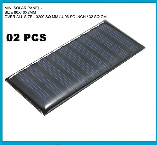 acce & peri� 2PCS. Mini Solar Epoxy Panel Power for LED DIY Projects