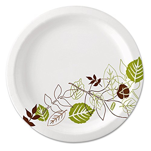 DIXUX7WS - Ultralux Pathways Paper Plates, 6.875quot;, Green/burgundy (Ultralux Paper Plate)