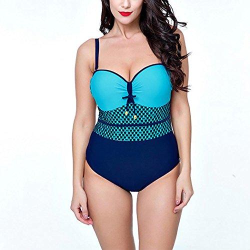 senza Costumi Taglia pezzo blue da schienale Un Sexy Bikini bagno lake HXQ Donna grossa wxqRBq