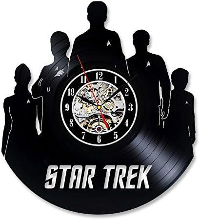 Gullei.com Vintage Vinyl Record Wall Clock Gift for Star Trek Fans