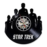 Vintage Vinyl Record Wall Clock Gift for Star Trek Fans For Sale