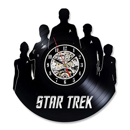 Vintage Vinyl Record Wall Clock Gift for Star Trek Fans For Sale