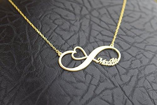 HANDMADE Personlized Infinity Name Heart Necklace, Heart Necklace, Gift ,Personalized Necklace