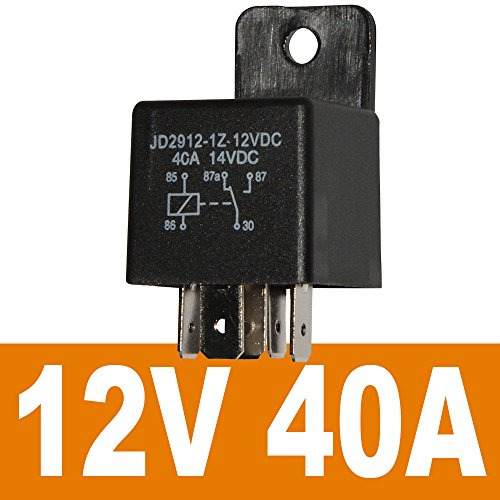 JD2912-1Z-12VDC 40A... Ehdis Motor Relay 5 Pin 12V Coil 40amp Spdt Model No.