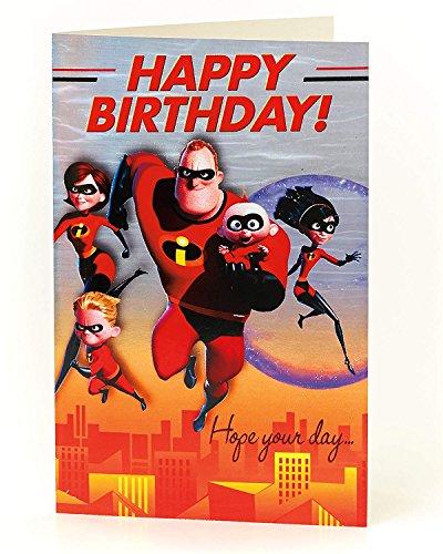 Carlton 601860-0-1 Disney The Incredibles Birthday ()