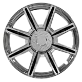 "Pilot Automotive WH541-14C-BLK Chrome 8 Spoke 14"" Wheel Cover with Black Inserts, (Set of 4)"