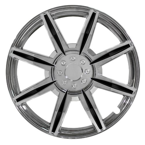 Pilot Automotive WH541-16C-BLK Chrome 8 Spoke 16