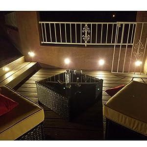 7Colors 10x Spot LED Eclairage extérieur Encastrable Sol Terrasse ...