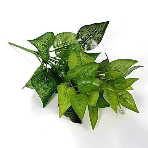 King Boutiques Artificial Flowers 5PCS Garden Decoration 7 Forks Net Leaf Artificial Plants Green Grass Tress Silk Fake Flowers Simulation Plant Wall Material (Color : A) from King Boutiques