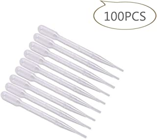 Disposable Plastic Transfer Pipettes 3ML, Essential Oils Pipettes, Makeup Tool, Graduated, Pack of 100
