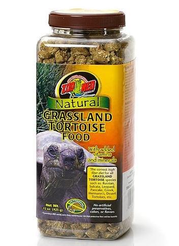 ZOO MED LABORATORIES INC ZM-131 NATURAL GRASSLAND TORTOISE FOOD 15 OUNCE